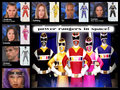 the power rangers in l'espace team!