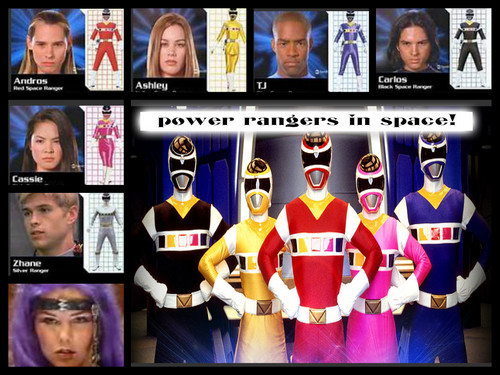 the power rangers in Weltraum team!