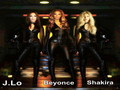 jennifer-lopez -  Jennifer Lopez , Beyonce &amp; Shakira wallpaper