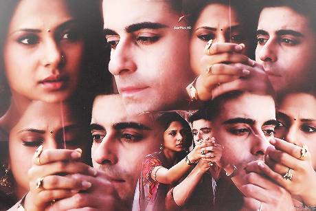 Saraswatichandra (TV series) karatasi la kupamba ukuta probably containing a portrait entitled || Saraswatichandra ||