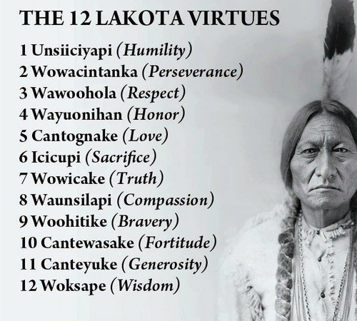 ★ The 12 Lakota Virtues ☆