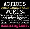 Actions Speak Louder Than Words (Fact) 100% Real ♥