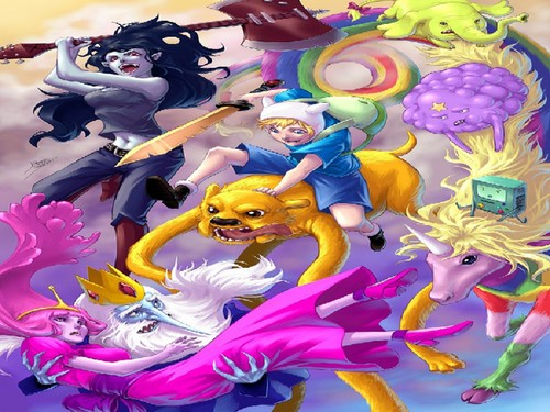 Adventure Time With Finn and Jake wallpaper containing anime called Adventure time
