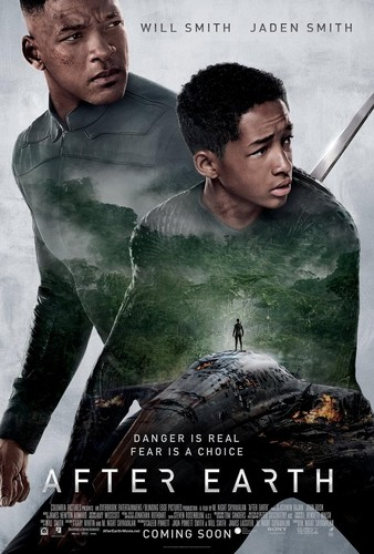 Will Smith hình nền probably with a sign and a portrait called After Earth Poster