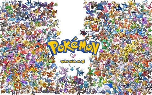 pokemon wallpaper entitled All the Poke'mon