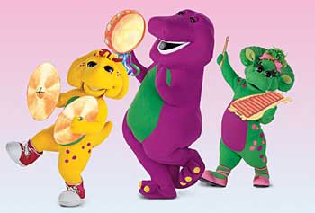Memorable TV wallpaper called Barney and friends ಇ
