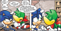 XD  Bean and Sonic  - archie-sonic-the-hedgehog photo