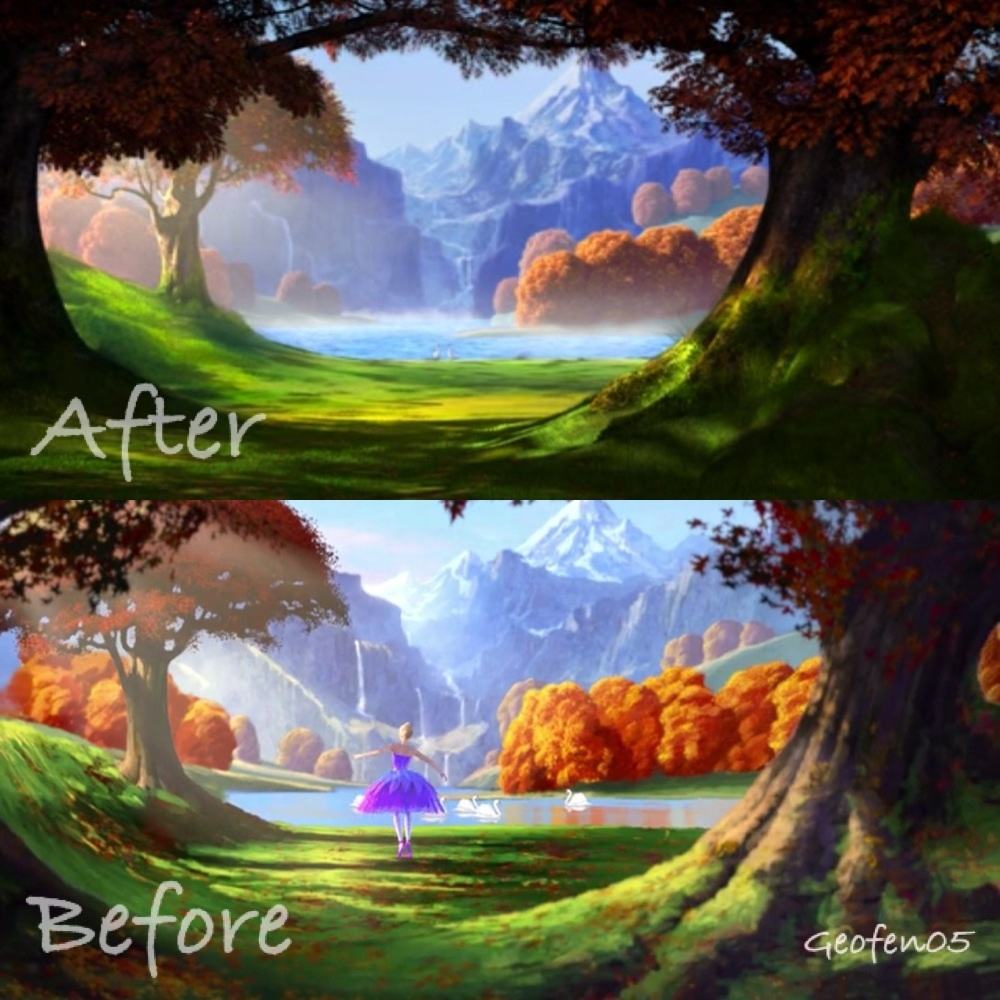 Before and after PS