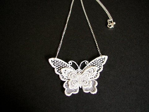 Belgium Lace Butterfly Necklace