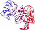 Blue And Red - sonic-the-hedgehog photo