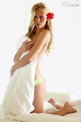 swimsuit si wallpaper possibly containing skin called Brooklyn Decker: 2010 Issue
