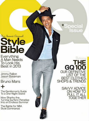 Bruno Mars Covers April Edition of GQ Magazine