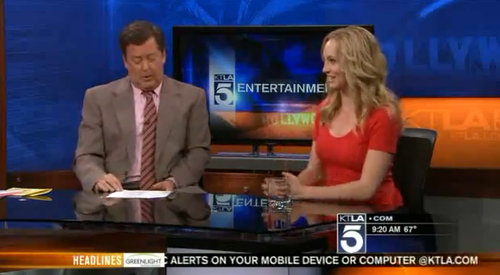Candice on 'KTLA 5 Morning News' [13/03/13]