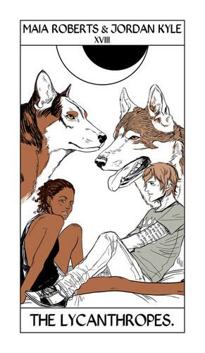 Cassandra Jean's Tarot Cards: Maia & Jordan {The Lycanthropes}.