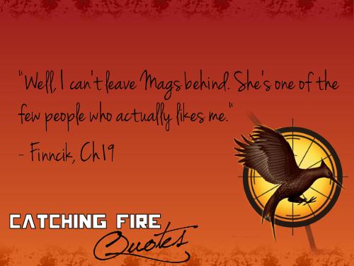 Catching 火, 消防 语录