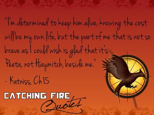 Catching огонь Цитаты