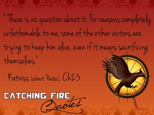 Catching 불, 화재 인용구