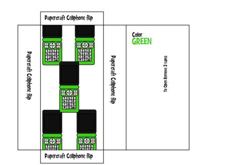 Cellphone flip Box art Green