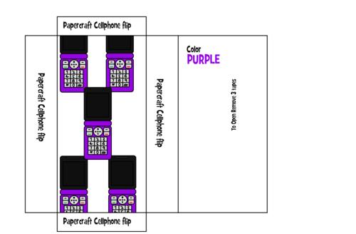Cellphone flip Box art Purple