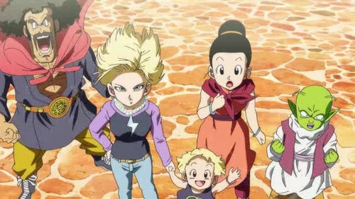 Chichi, Android 18 and Marron in 'Battle Of Gods' DBZ Movie 2013