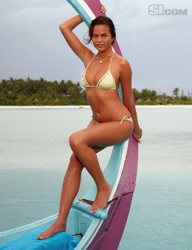 swimsuit si wallpaper containing a bikini titled Christine Teigen: 2010 Issue