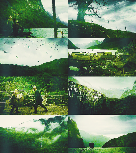 Colour Meme → Vikings (1.01 Rites Of Passage) + green.