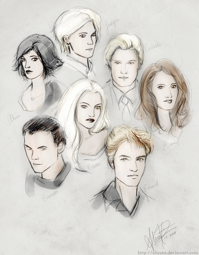 Cullen/Hale fã Art (by alicexz)