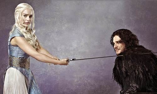 game of thrones wallpaper possibly with a coquetel dress called Daenerys Targaryen & Jon Snow