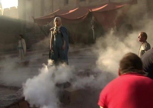 Dany & Jorah - On set of s3