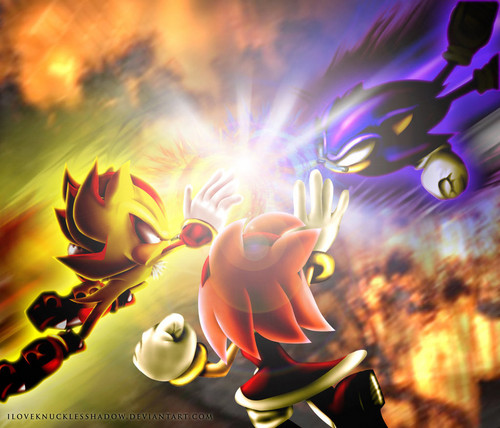 Dark Sonic And Super Shadow & Amy To