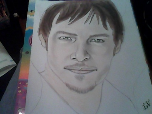 fanpop's got talent wallpaper possibly containing anime entitled Daryl from Walking Dead MY DRAWING