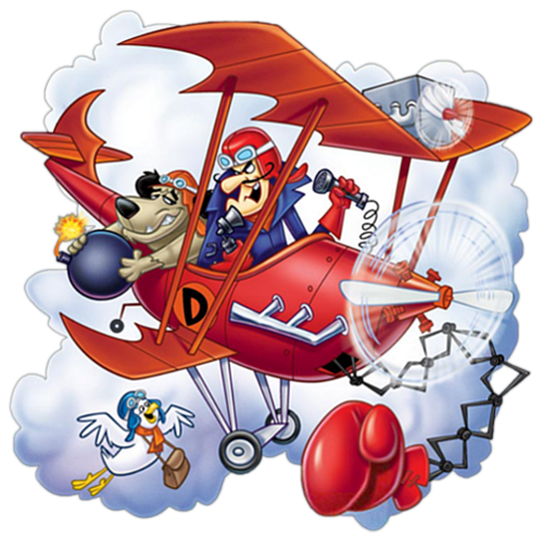 Memorable TV wallpaper probably containing anime called Dastardly and Muttley in Their Flying Machines ಇ