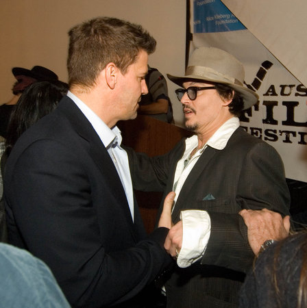 David Boreanaz & Johnny Depp