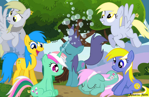 Derpy Hooves and her ancestors