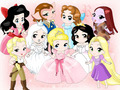 Disney Girls - childhood-animated-movie-heroines fan art