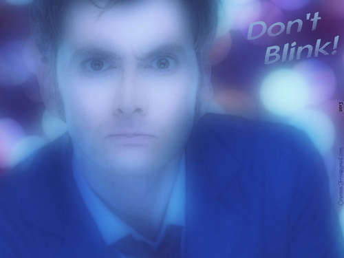 The Tenth Doctor wallpaper possibly with a business suit entitled Don't Blink