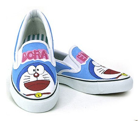Doraemon hand painted kids shoes
