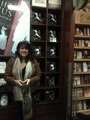 E L James in front of a display of her books this week. - fifty-shades-trilogy photo
