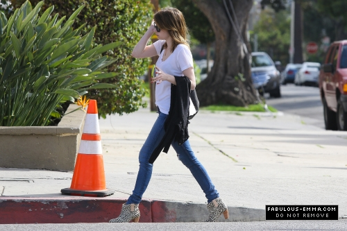 Emma out in West Hollywood