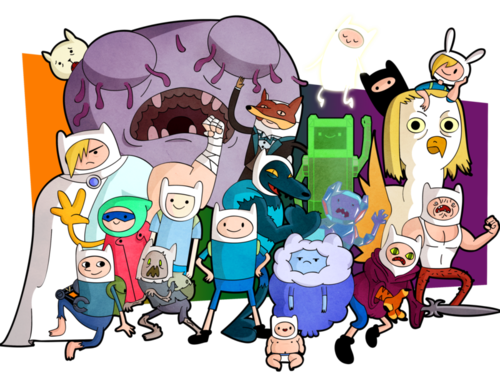 Adventure Time With Finn and Jake wallpaper with anime titled Finn Everywhere