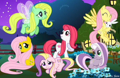 Fluttershy and her ancestors