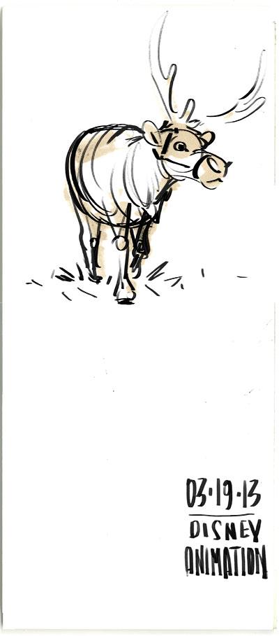 Frozen Reindeer Sketches