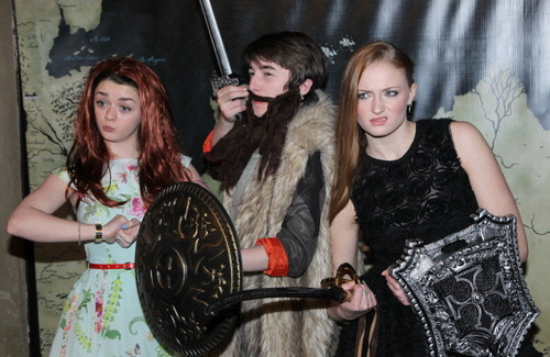Maisie Williams, Isaac Hempstead-Wright, and Sophie Turner