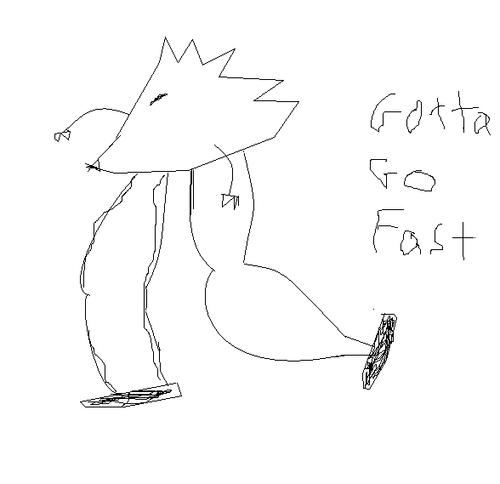 Gotta go fast!