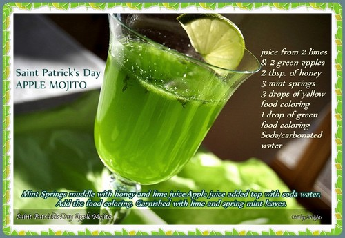 Green delight-Saint Patrick's Day Mojito