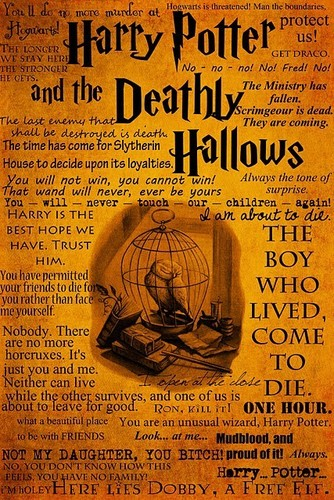 harry potter wallpaper possibly containing a newspaper and animê entitled HP and the Deathly Hallows Quotes!