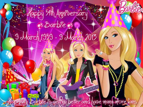 Happy 54th Anniversary, Barbie!!!
