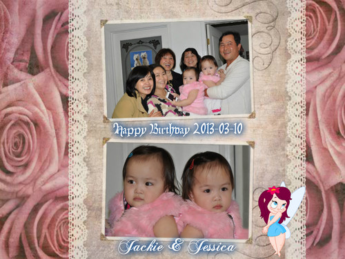 Beautiful Pictures achtergrond called Happy Birthday Tiffany's grandchild twin 2 years old