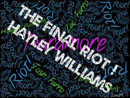 Hayley Williams-The Final Riot !