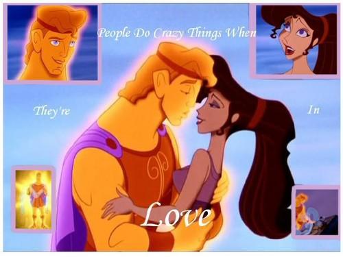 Hercules and Megara वॉलपेपर
